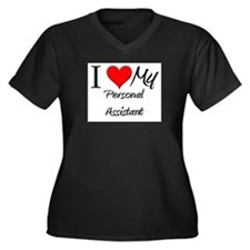 I Heart My Personal Assistant Women's Plus Size V-