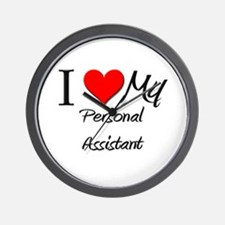 I Heart My Personal Assistant Wall Clock