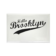 Hello Brooklyn Rectangle Magnet