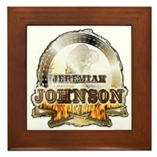 """Liver eating Johnson """" Jeremi Framed Tile"""