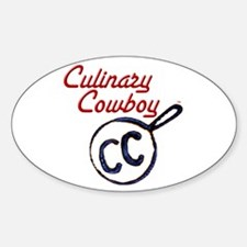 Culinary Cowboy Brand Oval Decal