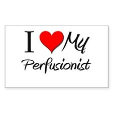 I Heart My Perfusionist Rectangle Decal