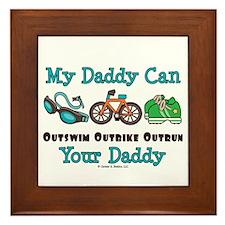 My Daddy Triathlon Framed Tile