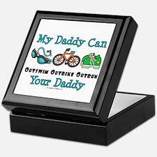 My Daddy Triathlon Keepsake Box