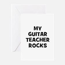 my guitar teacher rocks Greeting Cards (Pk of 10)