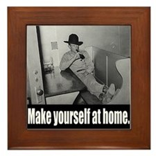 Culinary Cowboy at home Framed Tile