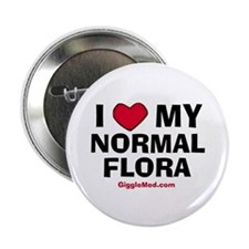 """Normal Flora Love 2.25"""" Button (10 pack)"""