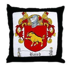 Baird Family Crest Throw Pillow