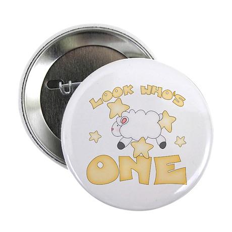 "Lamb Stars First Birthday 2.25"" Button (100 pack)"