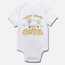 Lamb Stars First Birthday Infant Bodysuit