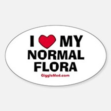 Normal Flora Love Oval Decal