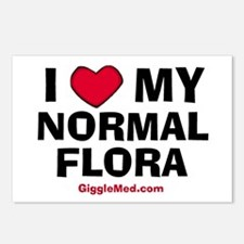 Normal Flora Love Postcards (Package of 8)