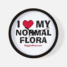 Normal Flora Love Wall Clock
