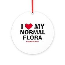 Normal Flora Love Ornament (Round)