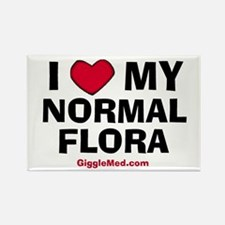 Normal Flora Love Rectangle Magnet