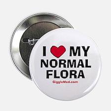 "Normal Flora Love 2.25"" Button"