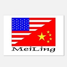MeiLing Flags Postcards (Package of 8)