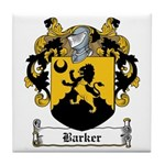 Barker Family Crest Tile Coaster
