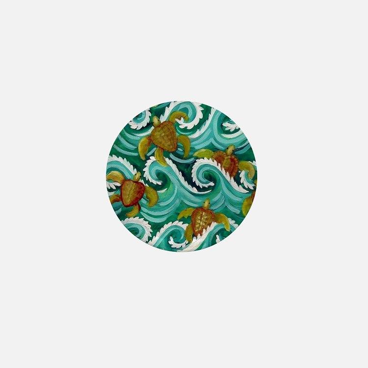 Tiny sea turtles Mini Button