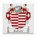 Barrett Family Crest Tile Coaster