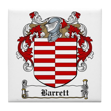 Barrett Family Crest Tile Coaster