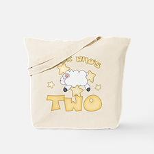 Lamb & Stars 2nd Birthday Tote Bag
