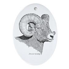 Bighorn Sheep Oval Ornament