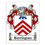 Barrington Family Crest Small Poster