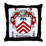 Barrington Family Crest Throw Pillow