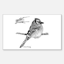 Blue Jay Rectangle Decal