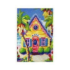 Home, Home on the Beach Rectangle Magnet