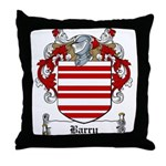Barry Family Crest Throw Pillow