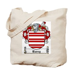 Barry Family Crest Tote Bag