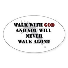 Walk With God Oval Decal