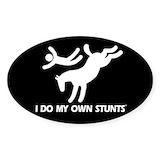 Horses i do my own stunts Bumper Stickers