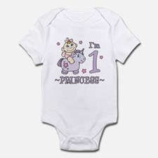 Unicorn Girl First Birthday Infant Bodysuit