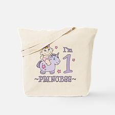 Unicorn Girl First Birthday Tote Bag