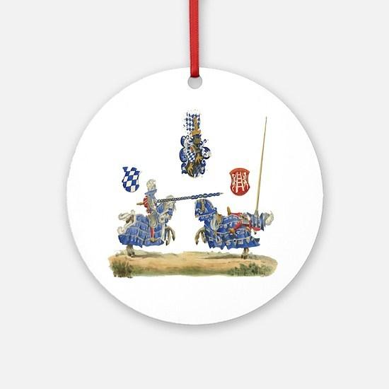 Knights Jousting Locks & Keys Battle Ornament (Rou
