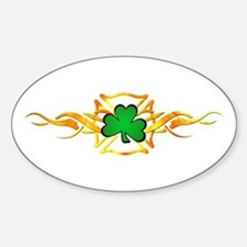 Firefighter Shamrock Oval Decal