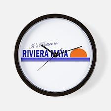 Its Better in Riviera Maya, M Wall Clock