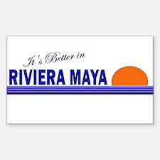 Its Better in Riviera Maya, M Sticker (Rectangular