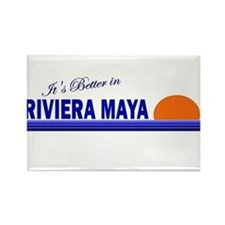 Its Better in Riviera Maya, M Rectangle Magnet