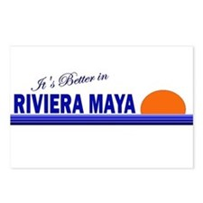 Its Better in Riviera Maya, M Postcards (Package o