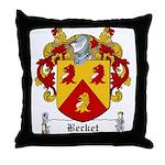 Becket Family Crest Throw Pillow
