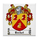 Becket Family Crest Tile Coaster