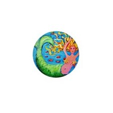 Mini Mermaid Mini Button