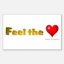 Feel the Love Rectangle Decal