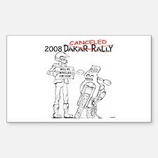 Dakar biker Rectangle Decal