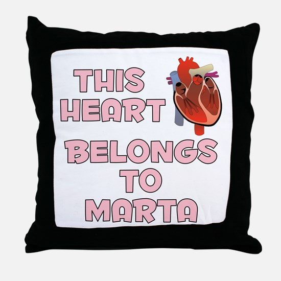 This Heart: Marta (C) Throw Pillow