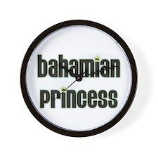 bahamian princess Wall Clock